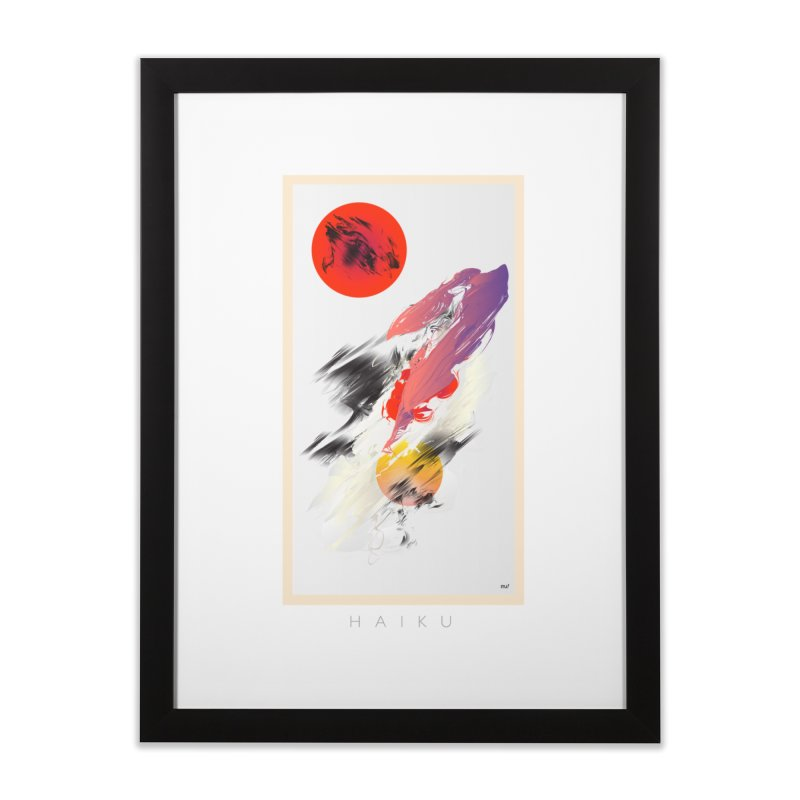 HAIKU Home Framed Fine Art Print by mu's Artist Shop
