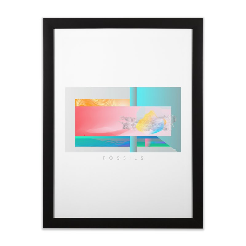 Fossils Home Framed Fine Art Print by mu's Artist Shop