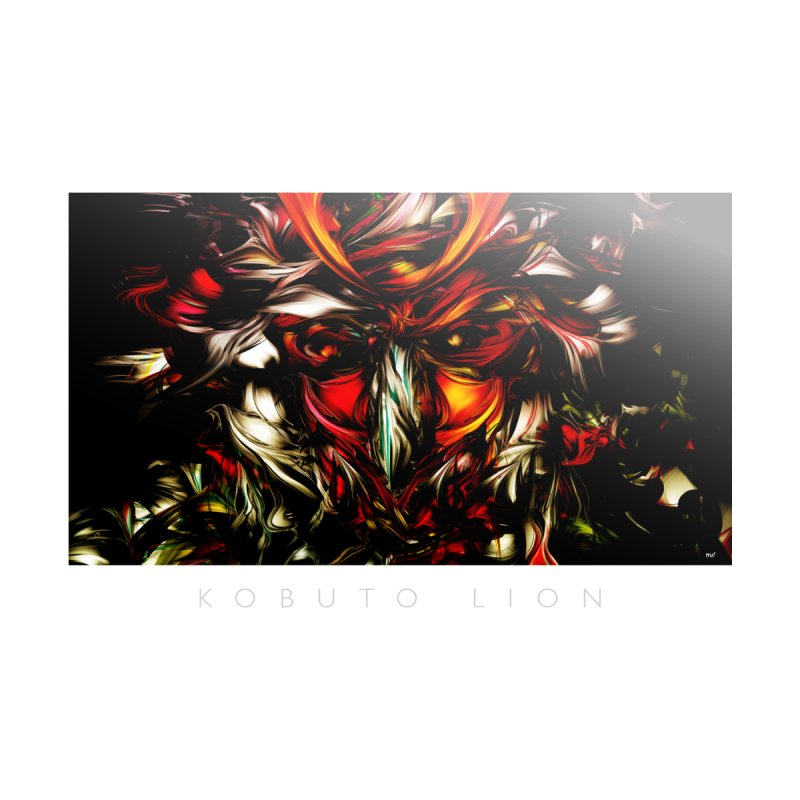 Kobuto Lion Home Framed Fine Art Print by mu's Artist Shop