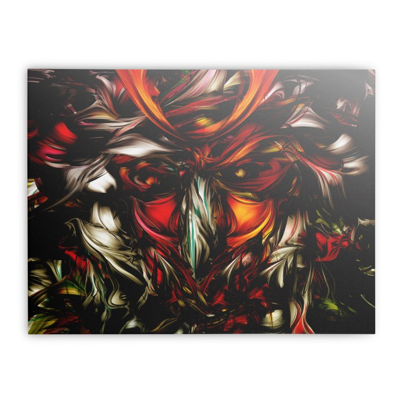 Kobuto Lion Home Stretched Canvas by mu's Artist Shop
