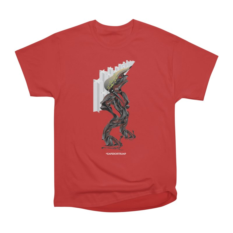 EMPEROR TRUMP Men's Heavyweight T-Shirt by mu's Artist Shop