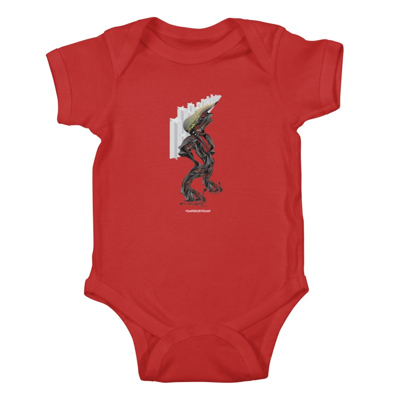 EMPEROR TRUMP Kids Baby Bodysuit by mu's Artist Shop