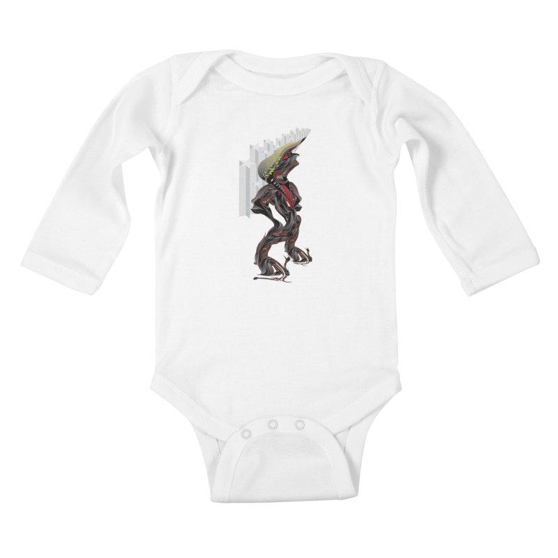 EMPEROR TRUMP Kids Baby Longsleeve Bodysuit by mu's Artist Shop