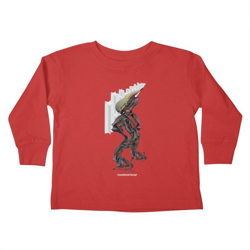 EMPEROR TRUMP Kids Toddler Longsleeve T-Shirt by mu's Artist Shop