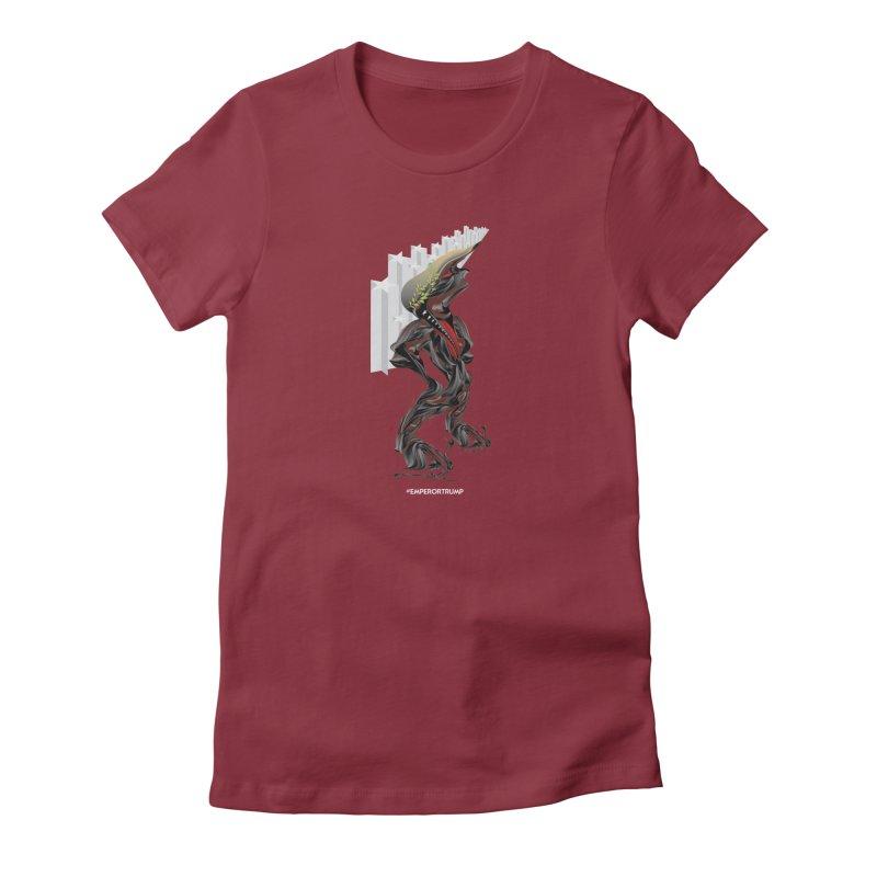 EMPEROR TRUMP Women's T-Shirt by mu's Artist Shop