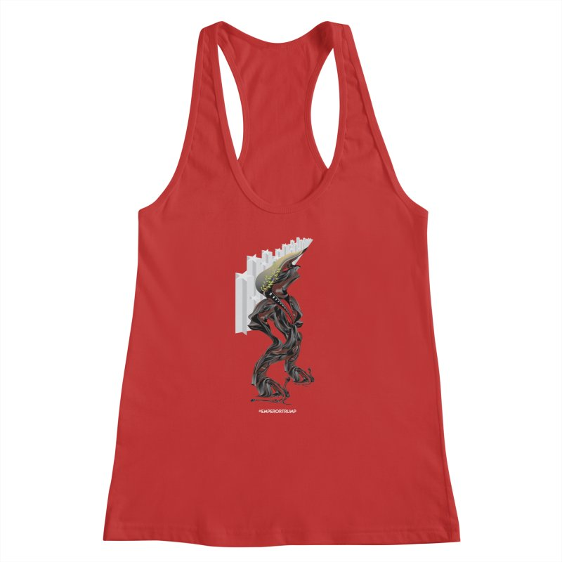 EMPEROR TRUMP Women's Racerback Tank by mu's Artist Shop