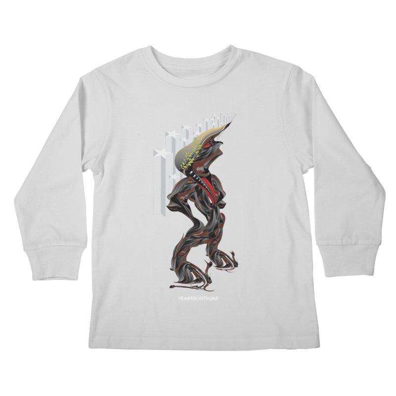 EMPEROR TRUMP Kids Longsleeve T-Shirt by mu's Artist Shop