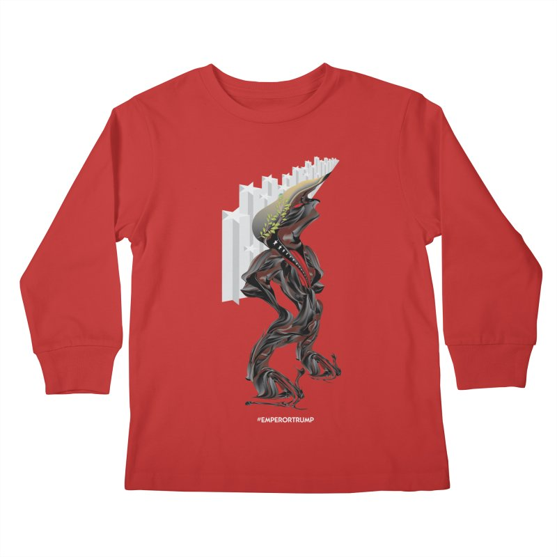 EMPEROR TRUMP Kids Longsleeve T-Shirt by mu's Artist Shop