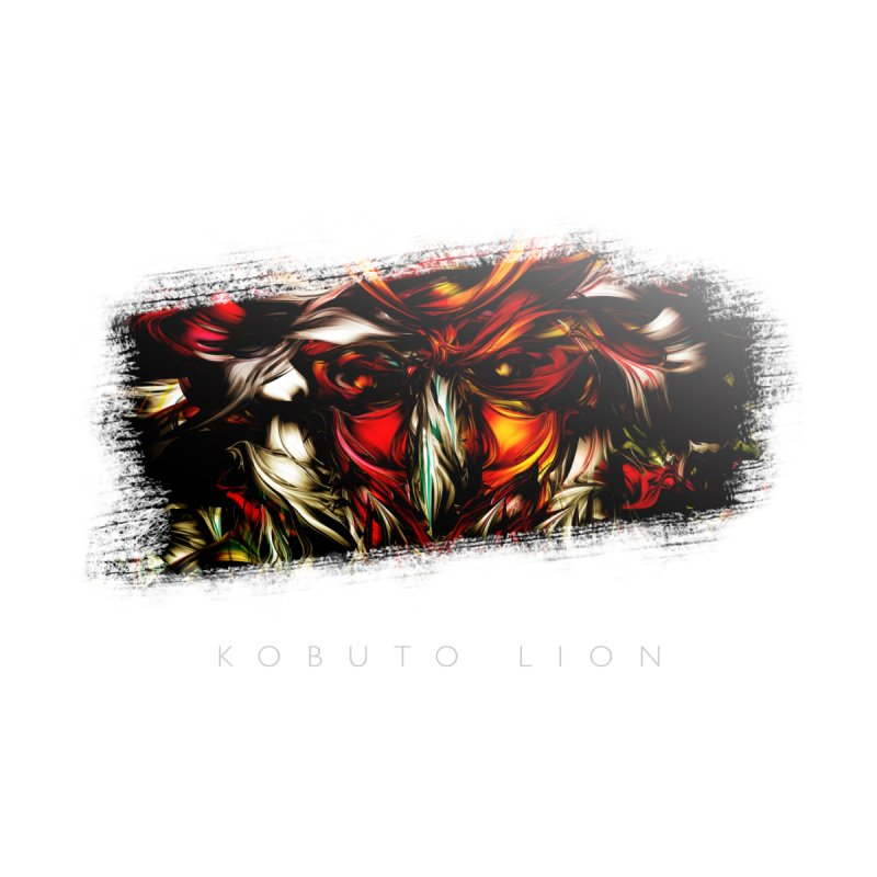 Kobuto Lion (Vignette) Home Stretched Canvas by mu's Artist Shop
