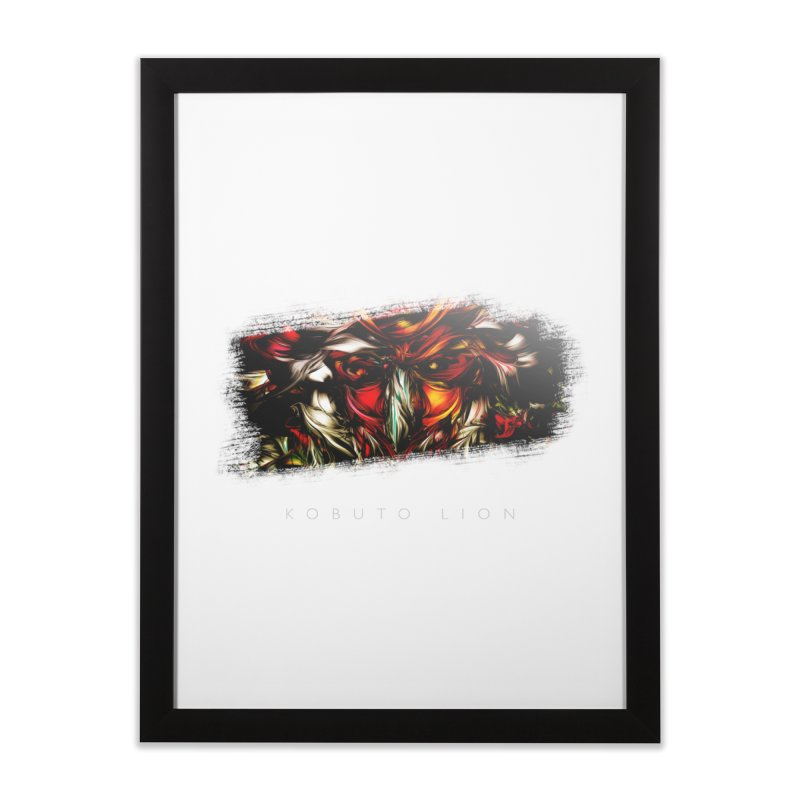 Kobuto Lion (Vignette) Home Framed Fine Art Print by mu's Artist Shop