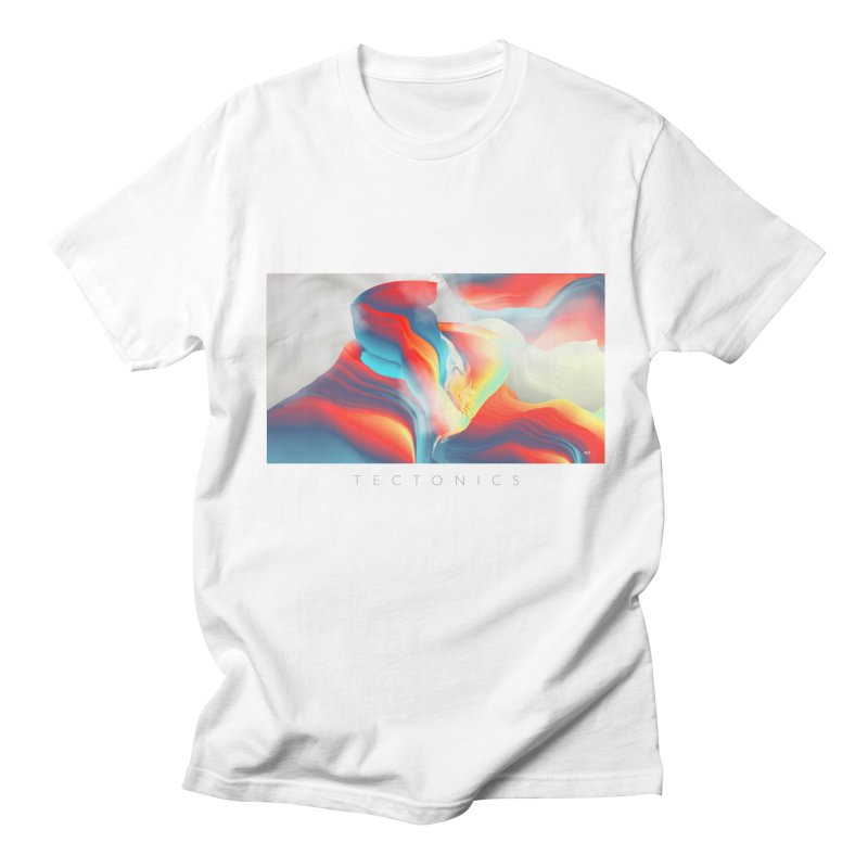 Tectonics in Men's T-Shirt White by mu's Artist Shop