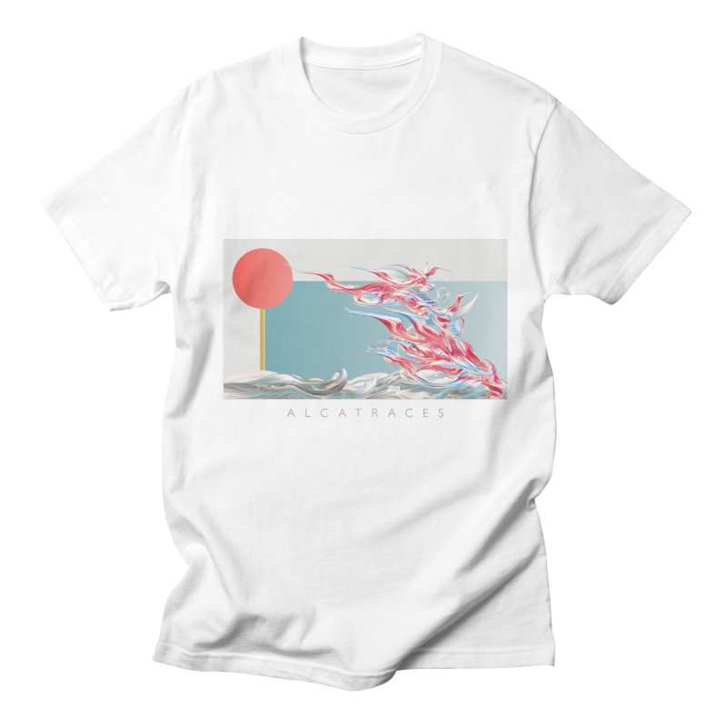 Alcatraces - Gannets in Men's Regular T-Shirt White by mu's Artist Shop