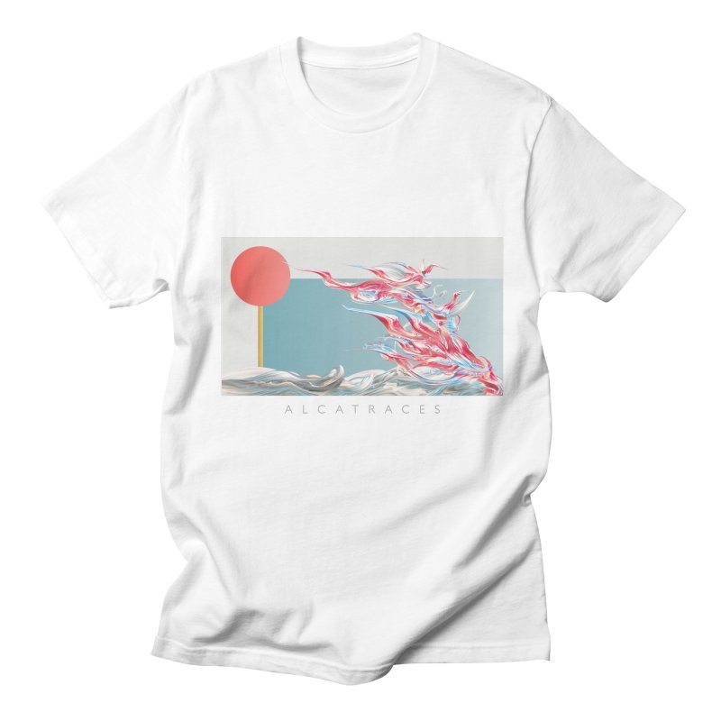 Alcatraces - Gannets in Men's Regular T-Shirt White by mu's Artist Shop