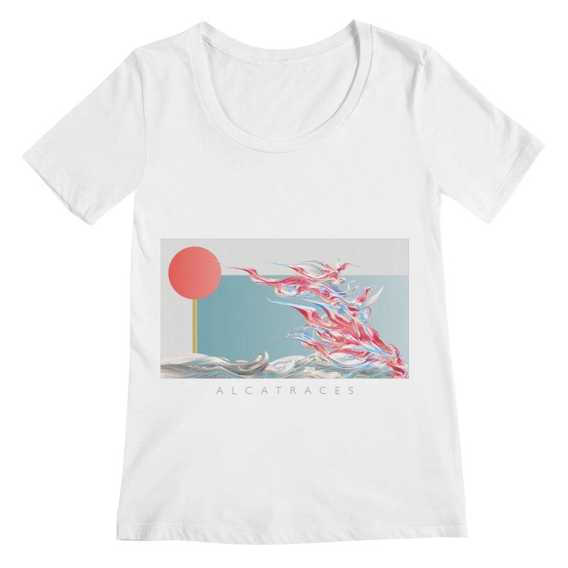 Alcatraces - Gannets Women's Regular Scoop Neck by mu's Artist Shop