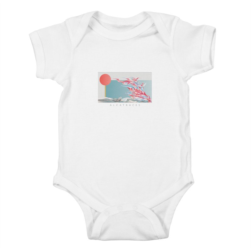 Alcatraces - Gannets Kids Baby Bodysuit by mu's Artist Shop