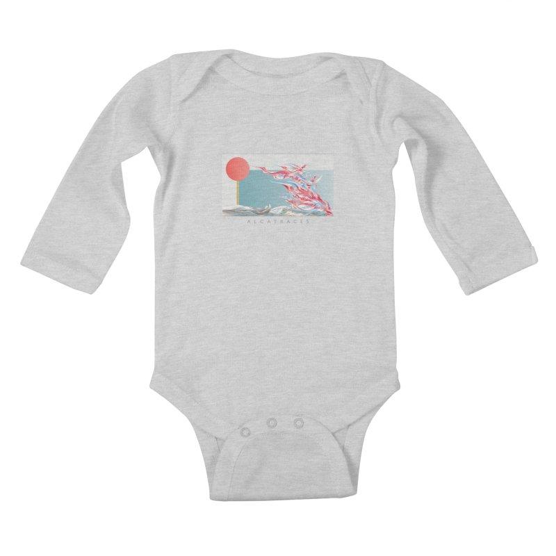Alcatraces - Gannets Kids Baby Longsleeve Bodysuit by mu's Artist Shop