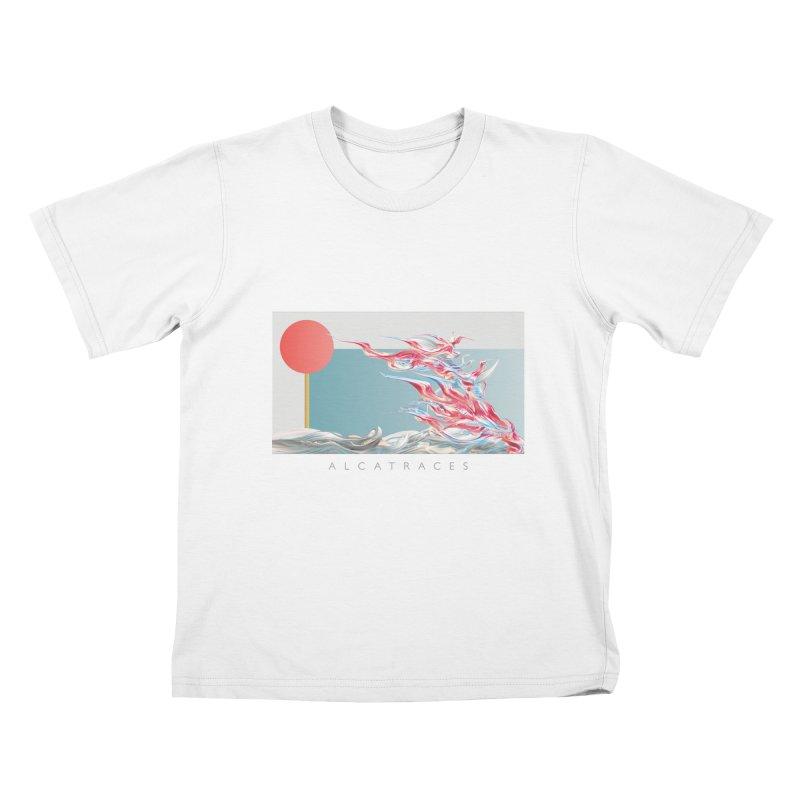 Alcatraces - Gannets Kids T-Shirt by mu's Artist Shop