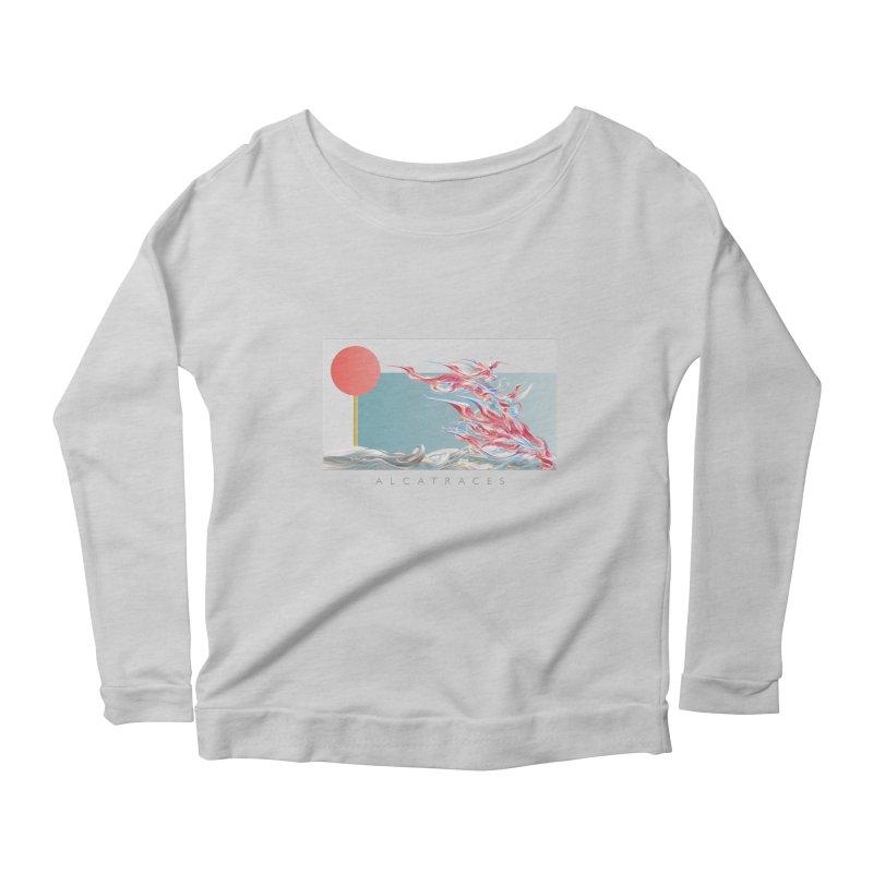 Alcatraces - Gannets Women's Scoop Neck Longsleeve T-Shirt by mu's Artist Shop