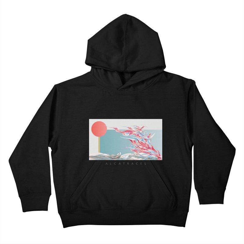 Alcatraces - Gannets Kids Pullover Hoody by mu's Artist Shop