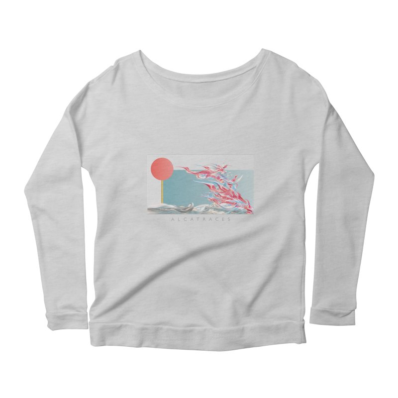 Alcatraces - Gannets Women's Scoop Neck Longsleeve T-Shirt by mu's Artist Shop