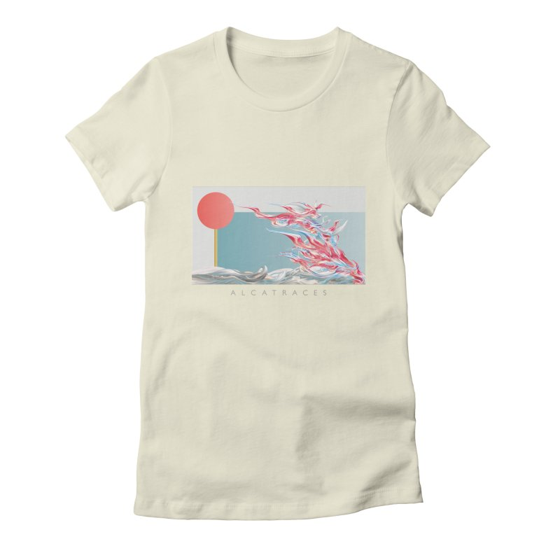 Alcatraces - Gannets Women's Fitted T-Shirt by mu's Artist Shop