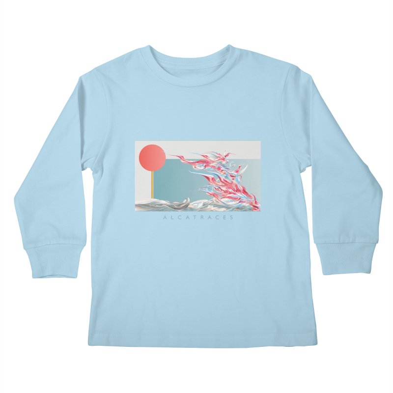 Alcatraces - Gannets Kids Longsleeve T-Shirt by mu's Artist Shop