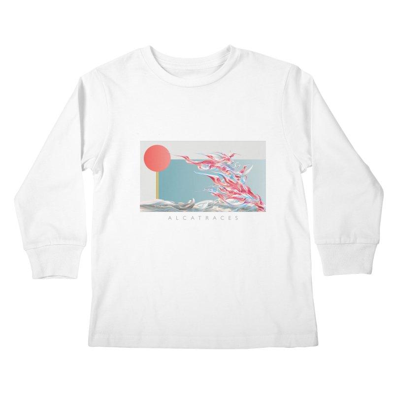 Alcatraces - Gannets Kids Longsleeve T-Shirt by mu's Artist Shop