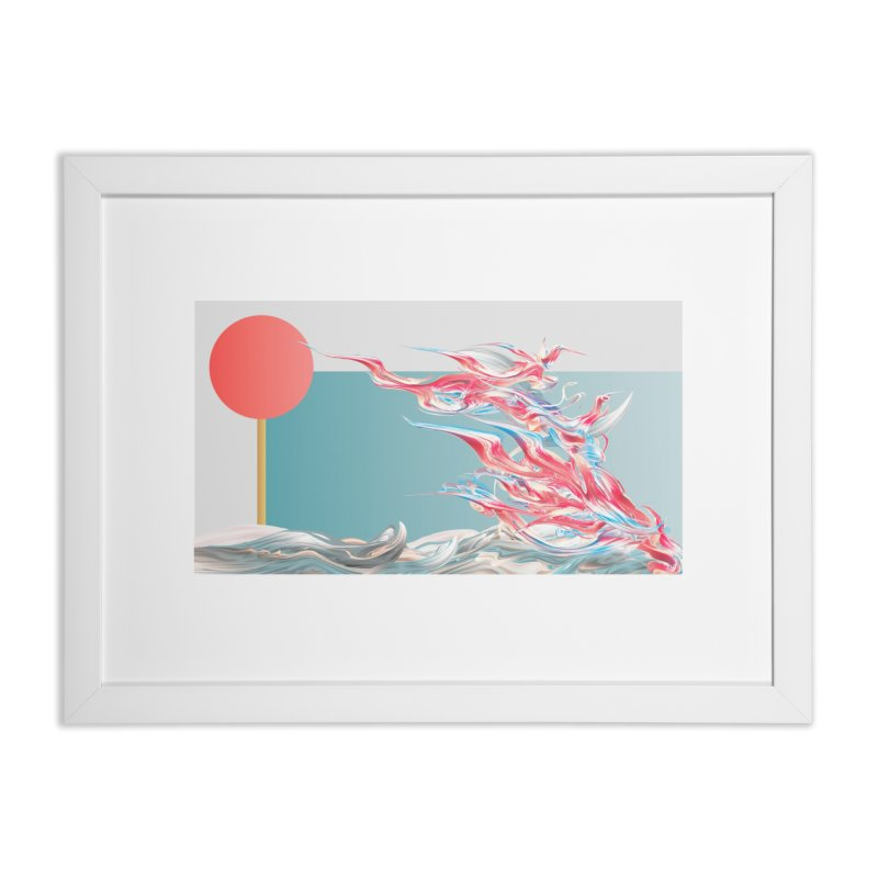 Alcatraces - Gannets Home Framed Fine Art Print by mu's Artist Shop