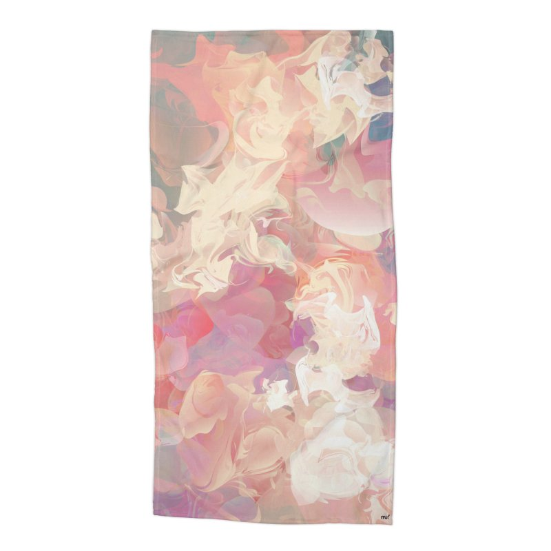 FLOWERY Accessories Beach Towel by mu's Artist Shop