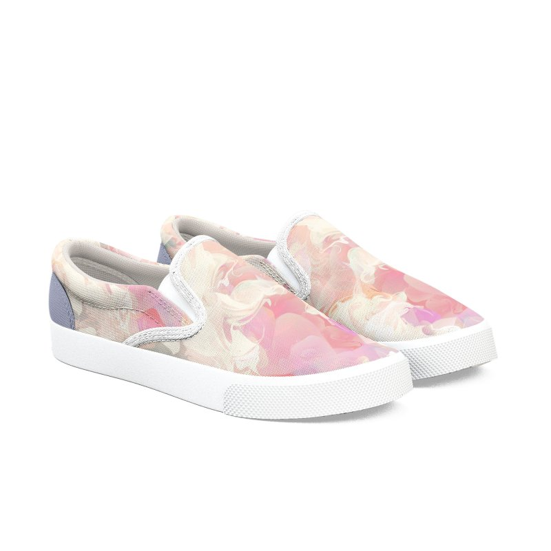 FLOWERY in Women's Slip-On Shoes by mu's Artist Shop