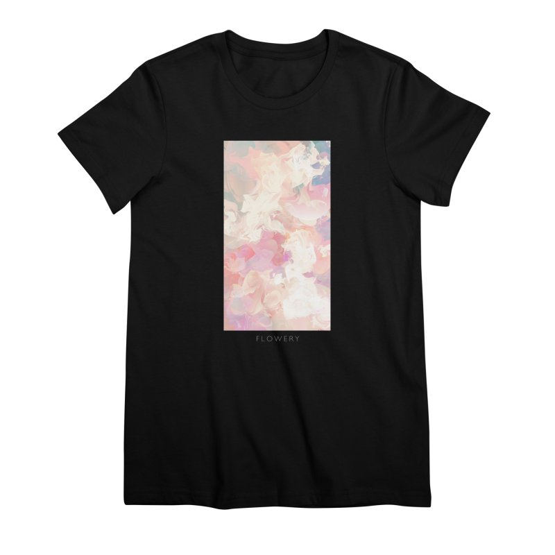 FLOWERY Women's Premium T-Shirt by mu's Artist Shop