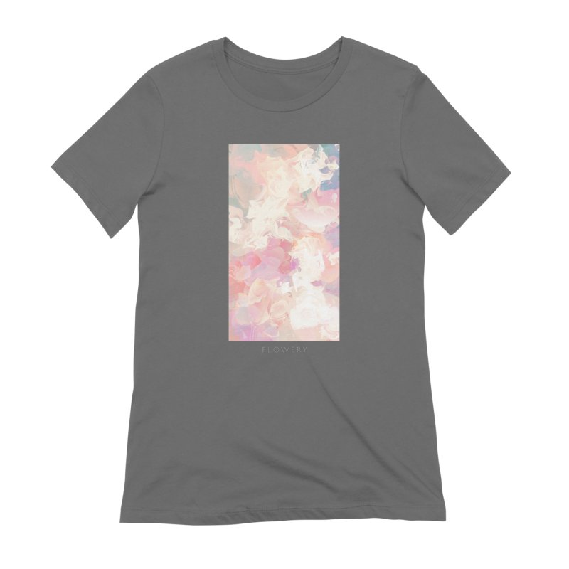 FLOWERY Women's Extra Soft T-Shirt by mu's Artist Shop