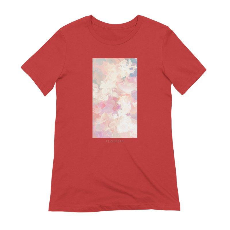 FLOWERY Women's Extra Soft T-Shirt by mu's Artist Shop