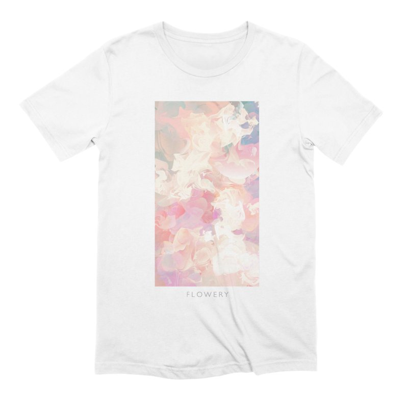 FLOWERY Men's Extra Soft T-Shirt by mu's Artist Shop