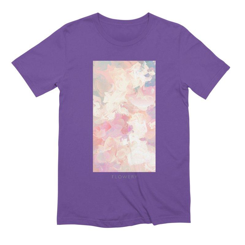 FLOWERY Men's Extra Soft T-Shirt by mu's Artist Shop
