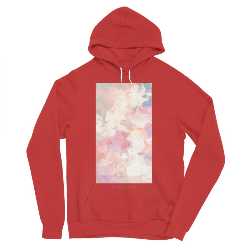 FLOWERY Men's Sponge Fleece Pullover Hoody by mu's Artist Shop
