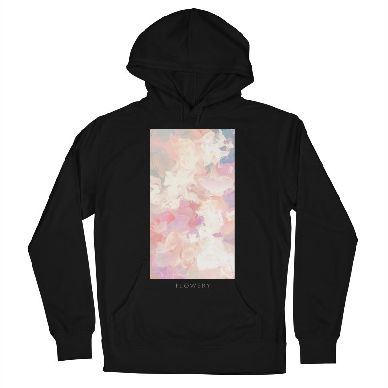 FLOWERY Women's French Terry Pullover Hoody by mu's Artist Shop