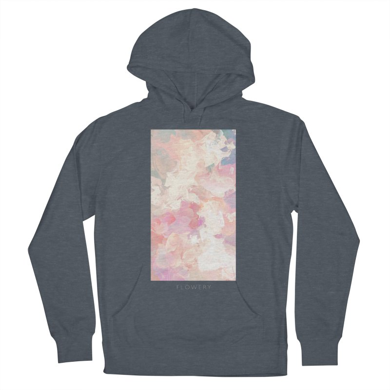 FLOWERY Men's French Terry Pullover Hoody by mu's Artist Shop