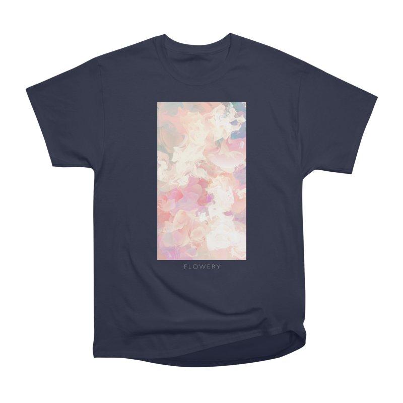 FLOWERY Women's Heavyweight Unisex T-Shirt by mu's Artist Shop