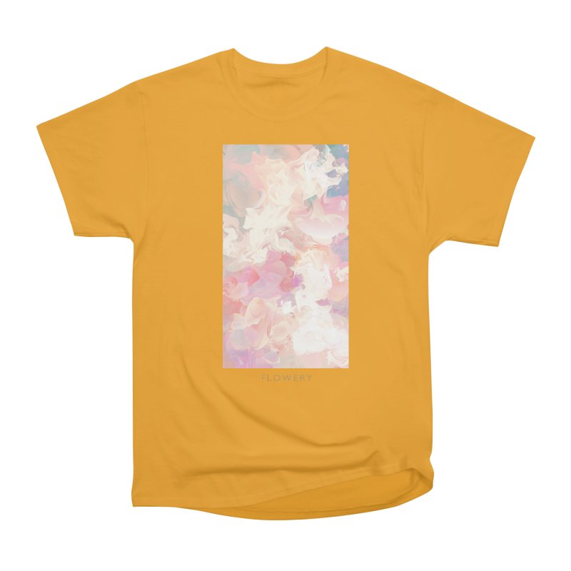 FLOWERY Women's Heavyweight Unisex T-Shirt by mu's Artist Shop