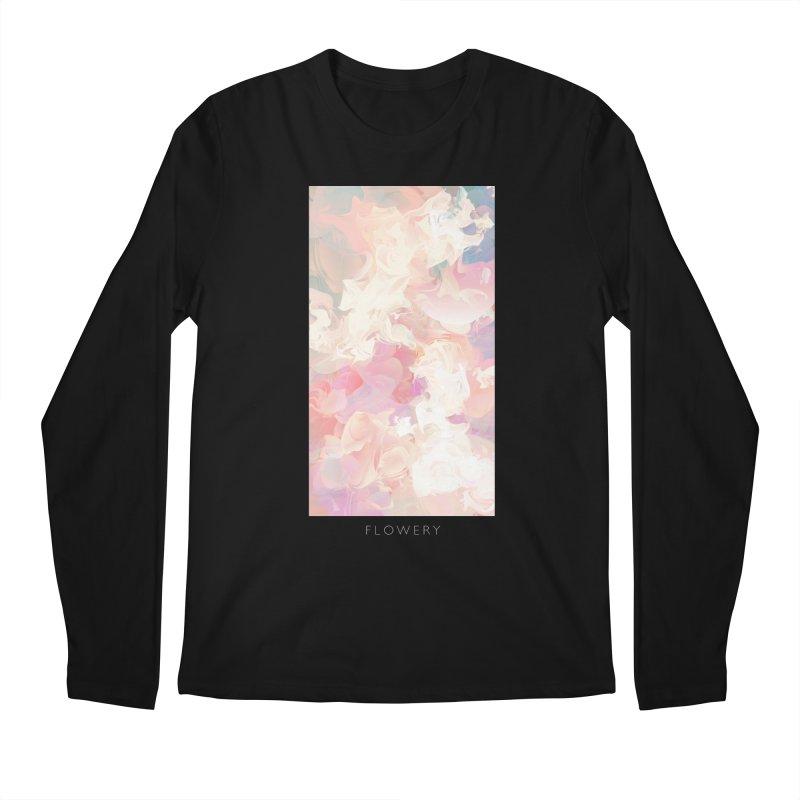 FLOWERY Men's Regular Longsleeve T-Shirt by mu's Artist Shop