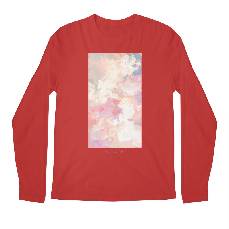 FLOWERY Men's Regular Longsleeve T-Shirt by mu's Artist Shop