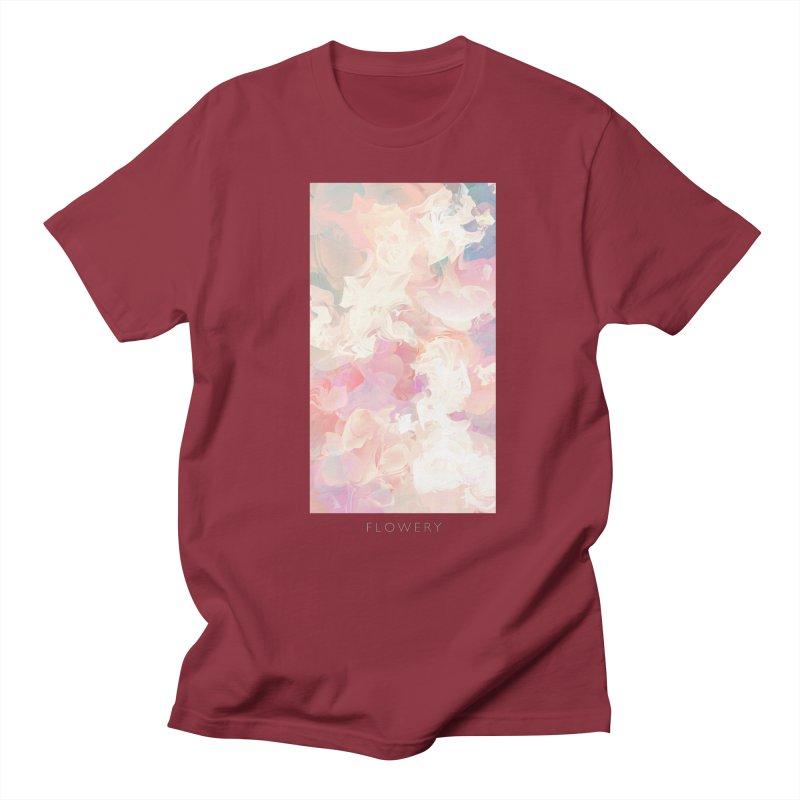 FLOWERY Women's Regular Unisex T-Shirt by mu's Artist Shop