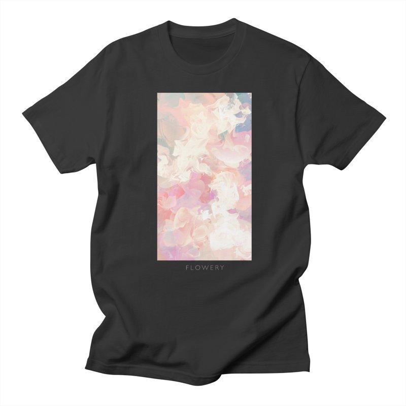 FLOWERY Men's Regular T-Shirt by mu's Artist Shop