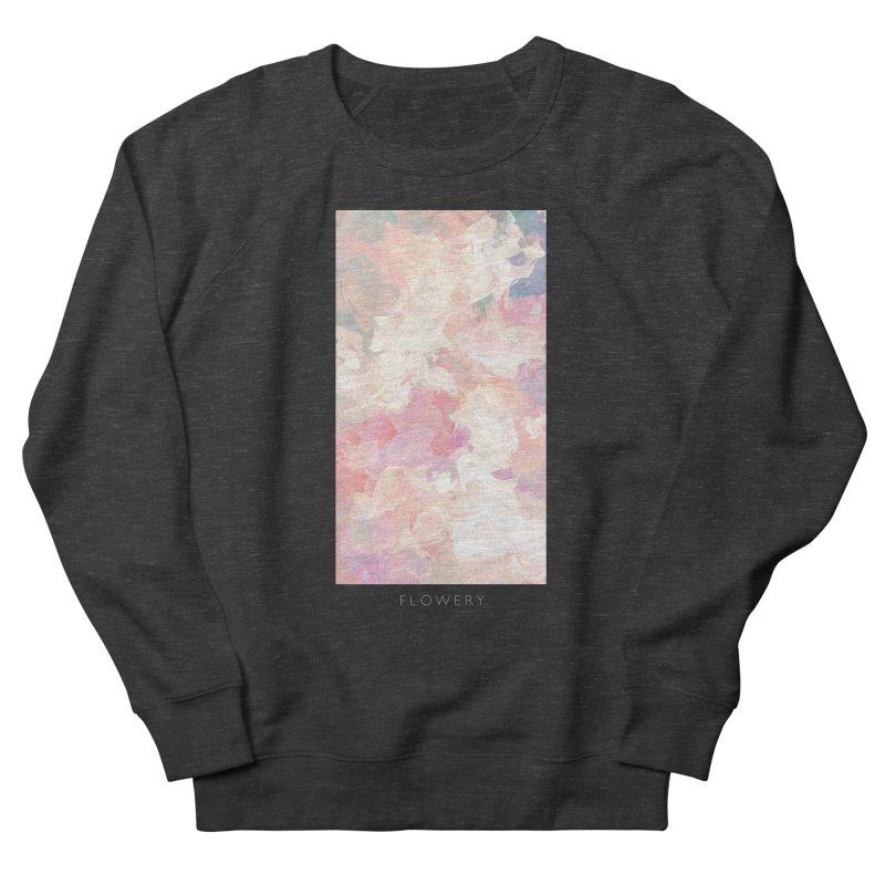 FLOWERY Women's French Terry Sweatshirt by mu's Artist Shop
