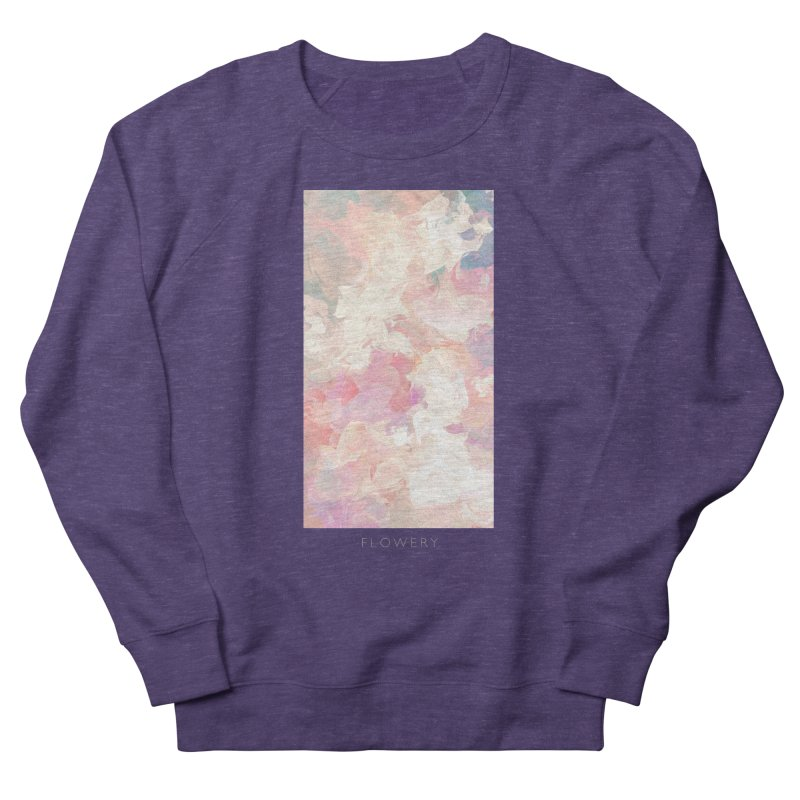 FLOWERY Men's French Terry Sweatshirt by mu's Artist Shop