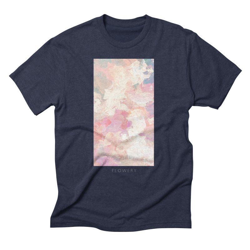 FLOWERY Men's Triblend T-Shirt by mu's Artist Shop