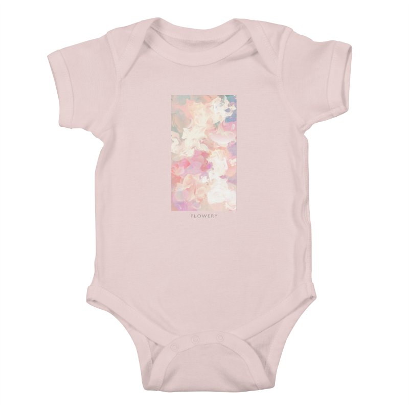 FLOWERY Kids Baby Bodysuit by mu's Artist Shop