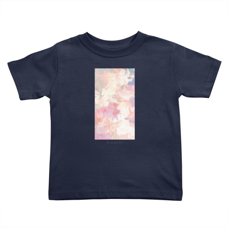FLOWERY Kids Toddler T-Shirt by mu's Artist Shop