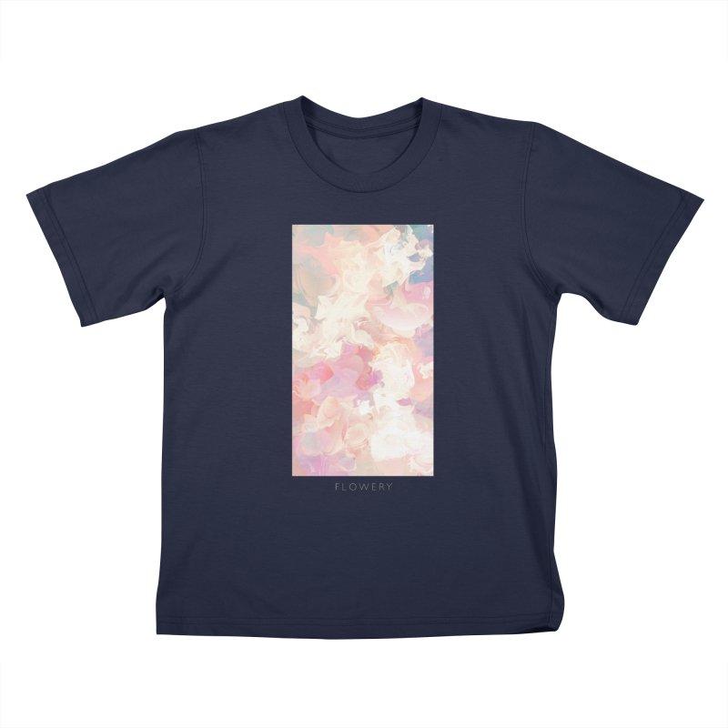 FLOWERY Kids T-Shirt by mu's Artist Shop